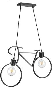 Onli Bike Lampada a Sospensione Bicicletta, Nero, 67 x 44 cm