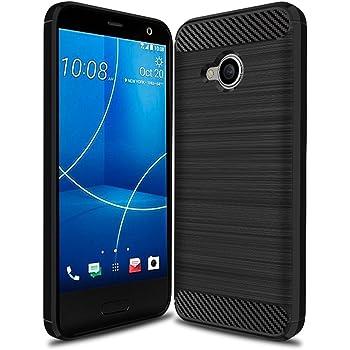 Vicstar Android One X2 / HTC U11 life ケース カバー TPU保護 ソフト シリコンケース 薄型 衝撃吸収 耐衝撃 柔らかい手触り ブラック