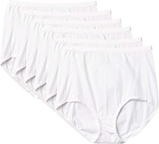 Hanes Ultimate Women's High Waist Brief 6-Pack, White, 6