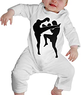 Dee O.STORE Newborn Baby Girls Boys Jumpsuit Overall Romper Muay Thai Organic Cotton Bodysuit Sleepwear