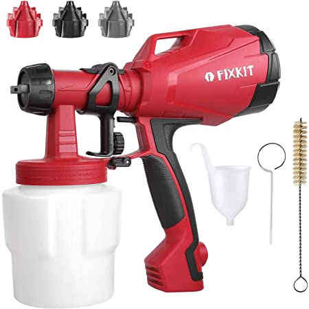 HVLP Paint Sprayer, 500 Watt High Power Electric Spray Gun with Three Spray Patterns, Professional Painting Tool with 1000ml Detachable Container for Home Spray Painting & Painting Projects