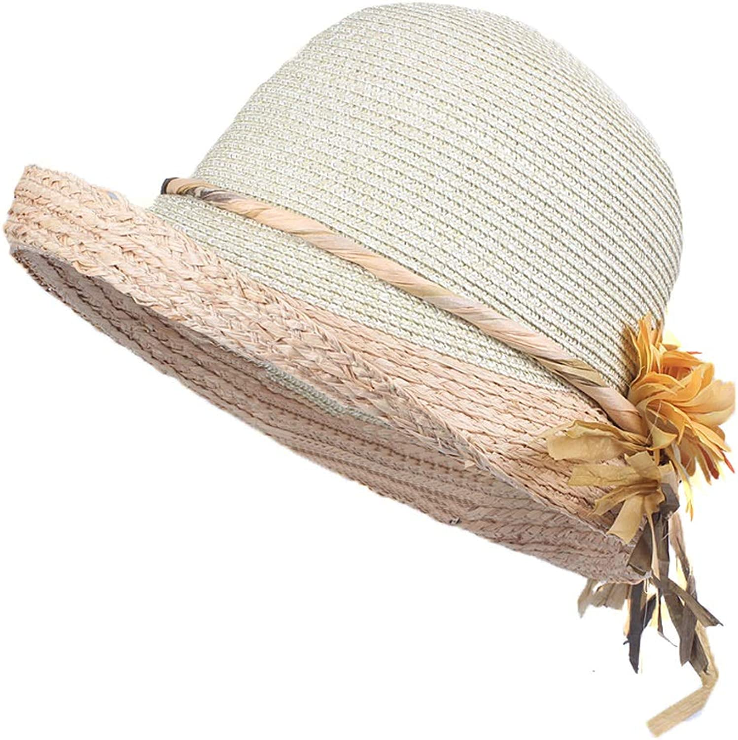 Hipster New Style Sun Hat Lafite Quality Summer Hat Lady Flower Small Fresh Lady Sun Hat Hat MISSMARCH