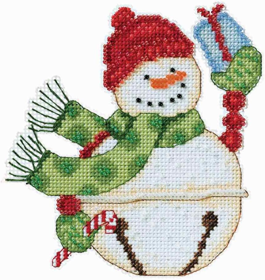 Mill Hill Snowbells Christmas Ornament Max 74% OFF Ranking TOP5 by Debbie Mumm Counted Cr