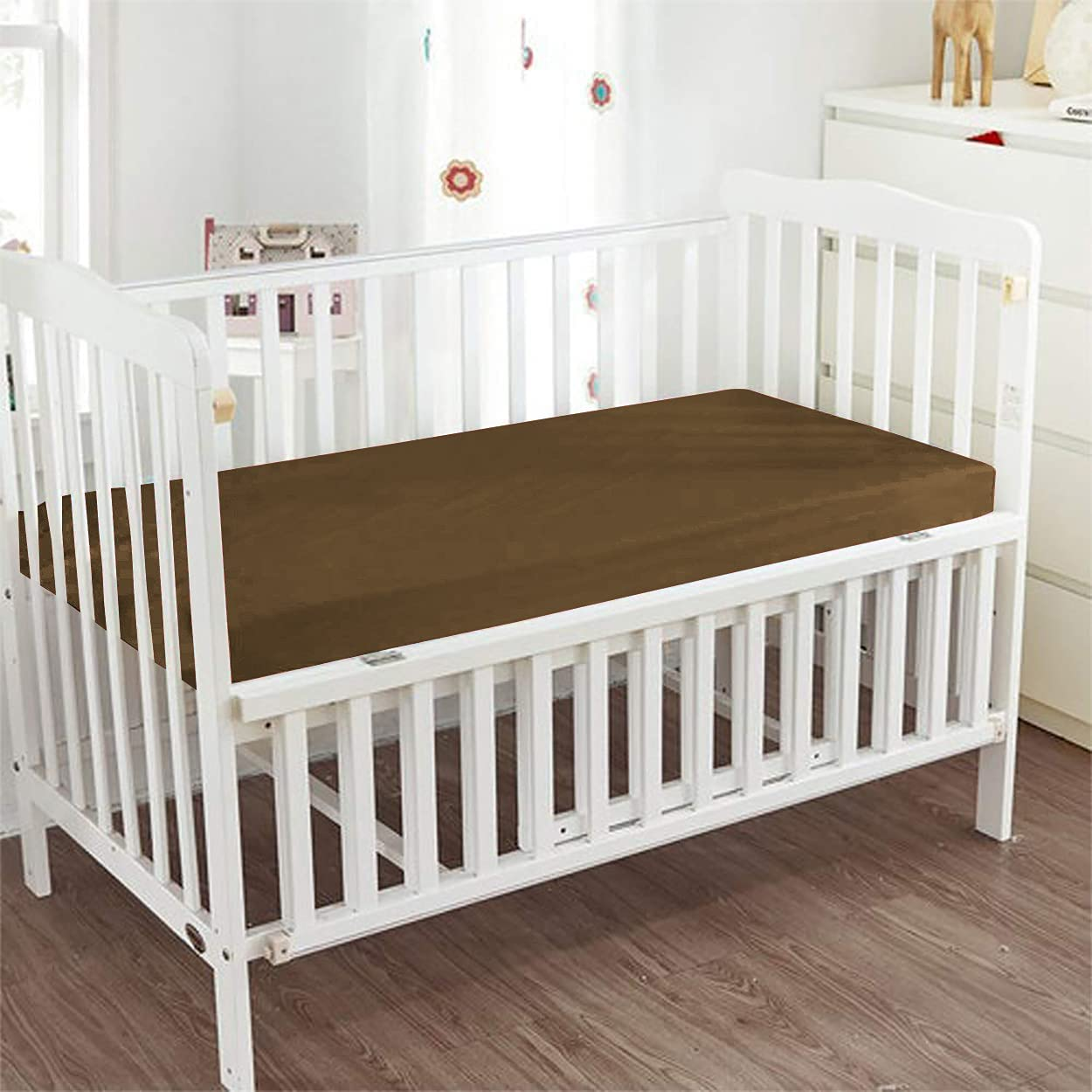 BedFantasy Manufacturer regenerated product - Fitted Crib Sheet 100% Color Egyptian Cotto Popular product Solid