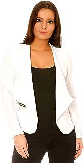 cbcdd3f5970ef5 Amazon.fr : Blanc - Blazers / Tailleurs : Vêtements