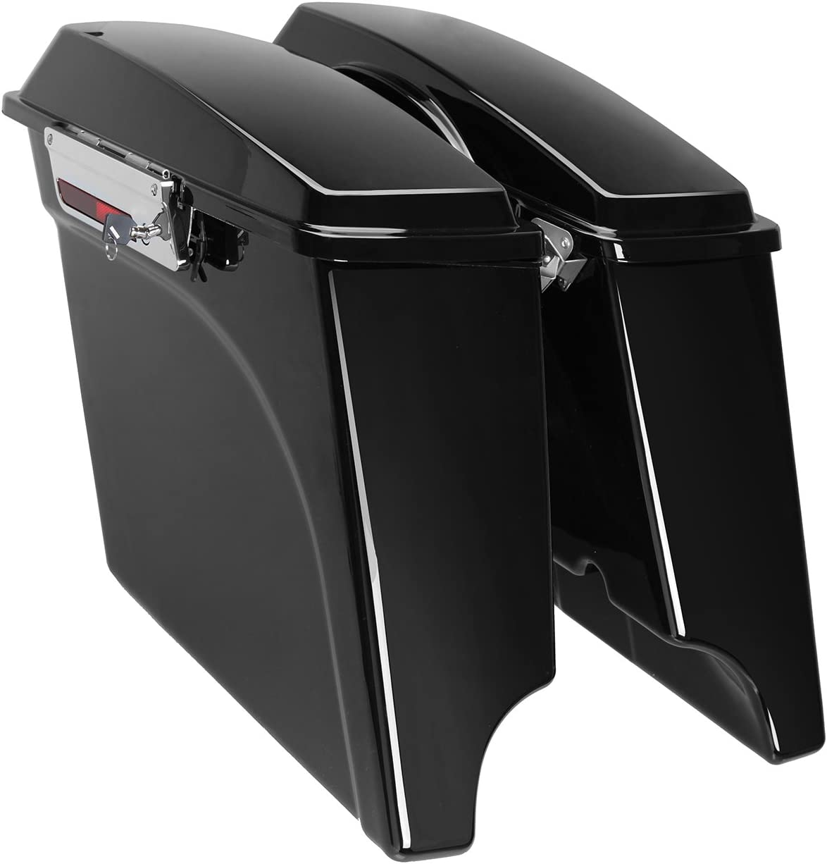 Ambienceo Stretched Spring new work one after another Extended Saddlebags 100% quality warranty Ha for 1993-2013 Painted