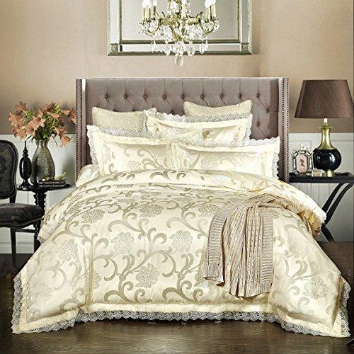 Beddingleer Duvet Cover Set Copripiumino Matrimoniale da Letto con Due Federe - in 100% Cotone 220cm x 240cm