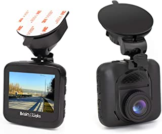 Brisk Links Dash Cam Full HD 1080P, Durable Low Profile Design, 156° Super Wide Viewing Angle, G-Sensor, Loop Recording, Super HDR, Motion Detection, with Bonus Multi Optional Mounts