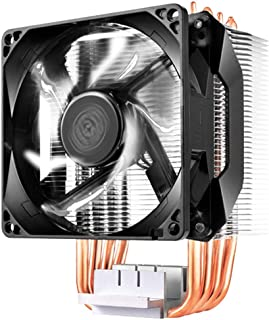 Cooler Master Hyper H411R Compact High Performance CPU Cooler with 4 Direct Contact Heatpipes - Black - RR-H411-20PW-R1