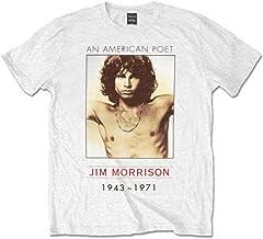 The Doors American Poet Jim Morrison Rock Oficial Camiseta para Hombre