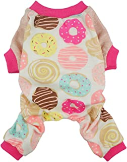 Fitwarm Sweetie Donuts Pet Clothes for Dog Pajamas Soft Cotton Shirts PJS, Pink