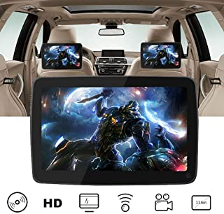 """11.6"""" Car DVD Player For Kids, Support 1080P Video Car Headrest DVD Player, HDMI Input, Sync Screen, AV In/Out, USB SD, Au..."""