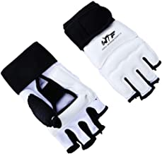 FunWay No.14 Taekwondo Karate Half Finger Gloves & Instep Protector Foot Guards for MMA Kick Boxing Fitness Training Anti-skid Shock Absorber