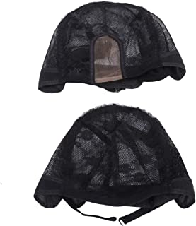 ULTNICE 2pcs Elastic Wig Cap Portable Breathable Mesh Wig Hair Lace Net Hat Hairdressing Accessories for Women Men Adult