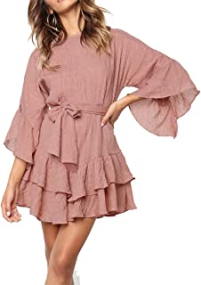 boho mauve dress