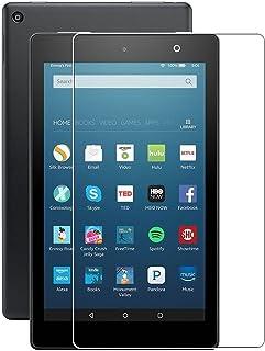 "(2pack) Amazon New Fire Tablet 7 ""Protector de pantalla de 7 pulgadas, Cobertura completa Protector de pantalla de vidrio ..."
