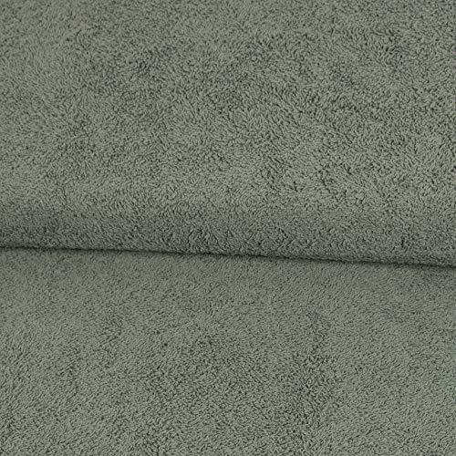 Stoffe Werning Frottee Uni einfarbig grau Bademantelstoff Handtücher Badetücher - Preis Gilt für 0,5 Meter