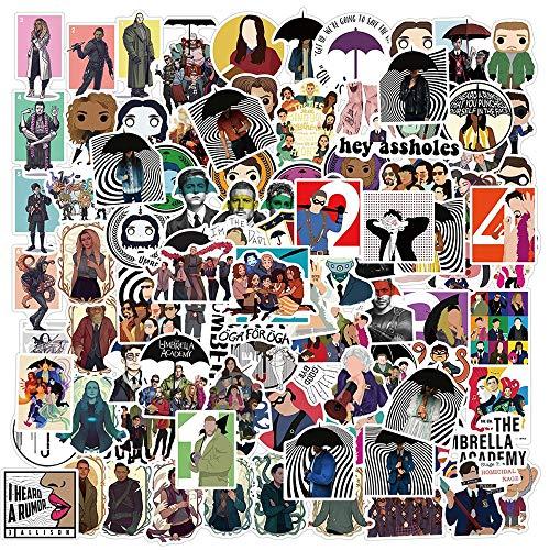 Umbrella Academy Sticker Tv Series Carácter Dibujos Animados Imagen Etiqueta Engomada Juguete Portátil Scooter 100pcs
