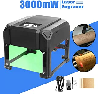 zmart 3000mW USBデスクトップ レーザー彫刻機 DIY ロゴマーク プリンター カッター CNC WIN/Mac OSシステム