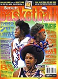 Ben Wallace Darius Miles Signed NBA Beckett Magazine - Autographed NBA Magazines