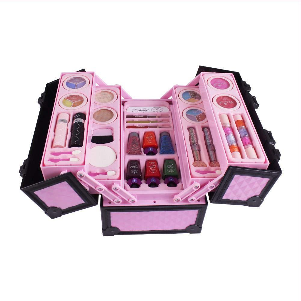 Bloomma 23 pzs. Pretend Makeup Signature Set - Estuche de Maquillaje y cosméticos para niñas pequeñas - Pretend Play Kids Beauty Salon: Amazon.es: Hogar
