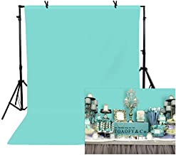 TOAOFY Tiffany Blue Backdrop 5x7ft TifnyBlue Photo Studio 100 Percent Pure Muslin Collapsible Backdrop Background for Photography Video and Television TAY006
