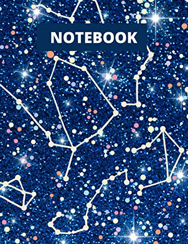 Constellation Notebook Unlined Pages: Constellation Journal/Notebook/Notepad/Sketchbook with Blank Pages Deep Blue Constellation Starry Night