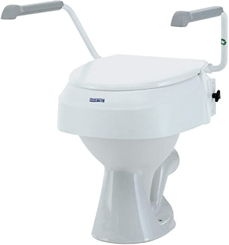 Invacare, Rehausseur de WC, Aquatec 900Rehausseur de toilette, avec Accoudoirs, Blanc