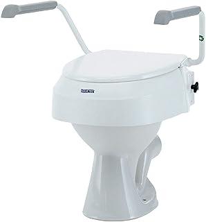 Invacare Aquatec 900 Toiletverhoging met deksel, verhoogde toiletbril voor ouderen, wit, verhoogt de zitting met 100 mm