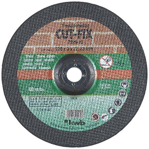 kwb snijschijf Cut-Fix 792970 (230 x 22, gebogen, 3,0 mm dik, voor steenbewerking, voor haakse slijper)