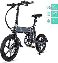 """Fiido D2/D2S Bicicleta Eléctrica Plegable, 7.8Ah 36V EBike 250W con 25km/h de Velocidad Ajustable para Unisex Adulto, Faro LED Delantero Incluido y Ruedas de 16"""" para 120kg…"""