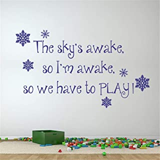 Wall Words Sayings Removable Lettering The Sky's Awake So I 'M Awake So We Have to Play for Play Room
