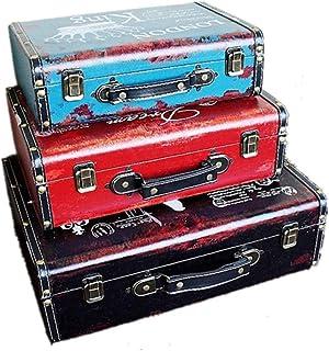 XBSXP Boîte de Rangement Vintage boîtes de Rangement Ensemble de 3 bibelots ou boîte à mémoire Coffre au trésor Organisate...
