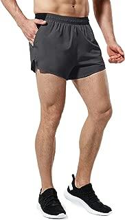 TSLA Men's 4 inches Quick-Dry Mesh Liner Pace Running Shorts Jogging Marathon w Pocket