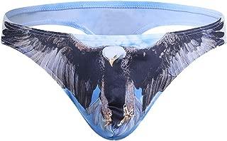 WUAI Mens Thongs G-String Bikini Briefs Bulge Pouch 3D Animal Printed Hipster Hot Underwear Sexy for Men
