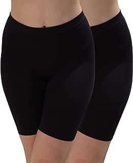 Women's Seamless Smooth Lightweight Stretchy Slip Short 2-Pack
