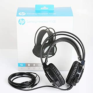 Gaming Headset HP H100 Esports Gaming Headset With Mic (Black) Connector Size - 3.5 MM Audio Headset Computer Headset