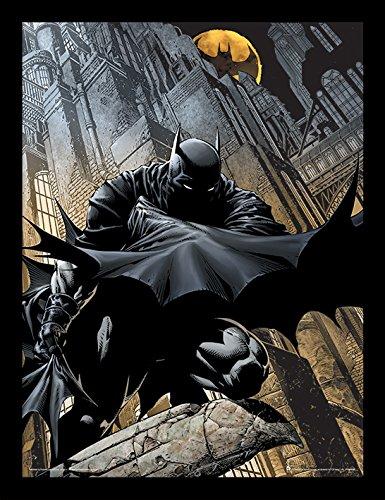 Batman 30 x 40 cm vigilancia Nocturna impresión enmarcada
