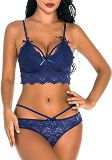 Buyaole Intimo-Lingerie Sexy Donna Hot per Sesso Aperto Set da Notte da Notte di Biancheria Intima da Donna Pigiama Reggis...