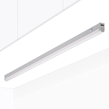 Rampe cuisine Réglette LED Raccordable avec interrupteur RIGA Blanc chaud 3000K 90cm Meuble sous Cuisine Atelier Garage Cave Grenier