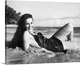 GREATBIGCANVAS Gallery-Wrapped Canvas The Blue Lagoon, Jean Simmons - Vintage Publicity Photo, 1949 by 36
