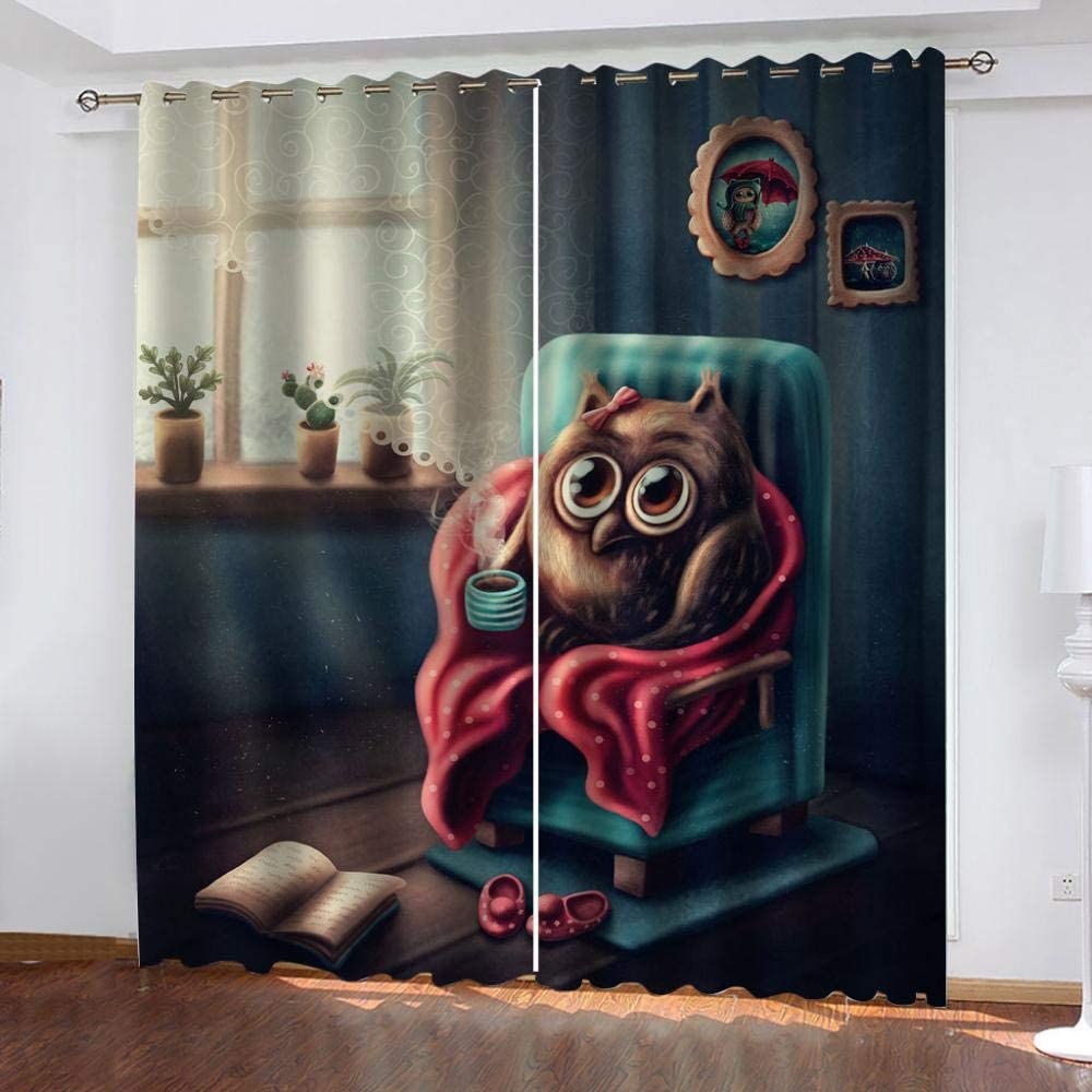 PTBDWOSZ Blackout Curtains All items in the store Eyelet 150 W cm Cute latest Cartoo H 166 X