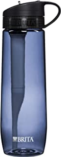 Brita 23.7 Ounce Hard Sided Water Bottle with Filter - BPA Free - Gray