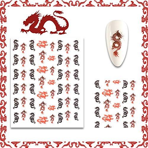 Anself 1 Sheet 3D Mix Color Floral Design Nail Art Stickers Manicure Beautiful Fashion Accessories Decoration