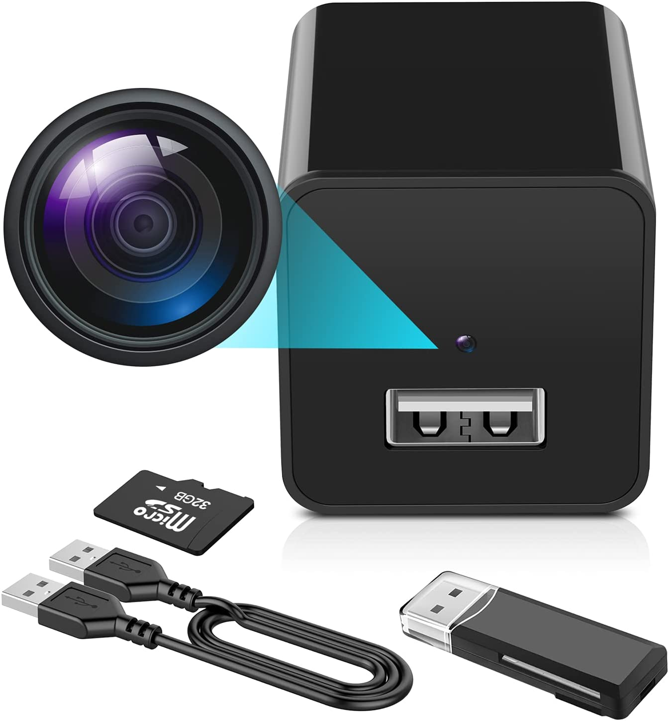 Hidden Camera - 1080P Spy Camera with Audio and Video - Mini Nanny Cam - Portable Motion Detection Small HD Secret Surveillance Camera Charger, Can be Used in Bedroom, Living Room and Toilet