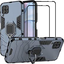 EasyLifeGo for Huawei P40 lite/Huawei Nova 7i Kickstand Case with Tempered Glass Screen Protector [2 Pieces], Hybrid Heavy...
