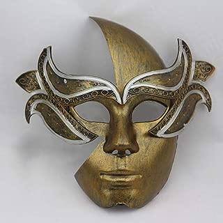 WXYXG Halloween Mask Masquerade Mask Props Gladiator Mask Christmas Cosplay (Color : Gold)