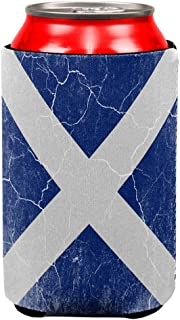 Old Glory Scottish Flag Distressed Grunge Scotland All Over Can Cooler Multi Standard One Size