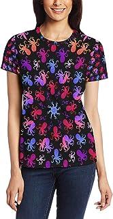 T-shirt voor vrouwen meisjes kleine Octopus aangepaste korte mouw