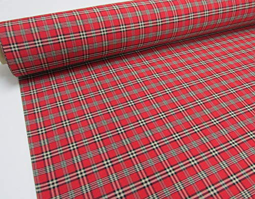 Confección Saymi Metraje 0,50 MTS Tejido Cuadros Ref. Escocés Mini Color Rojo, con Ancho 2,80 MTS.